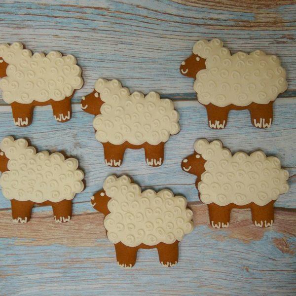 Пряник овечка, заливка, роспись